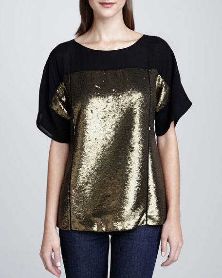 Maryanne Gold Sequin Top