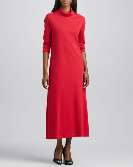 Turtleneck Maxi Dress, Petite