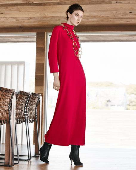 Turtleneck Maxi Dress, Women's