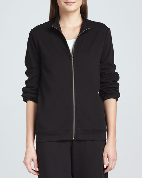Interlock Stretch Zip-Front Jacket, Petite