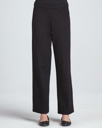 Joan Vass Interlock Stretch Pants, Petite