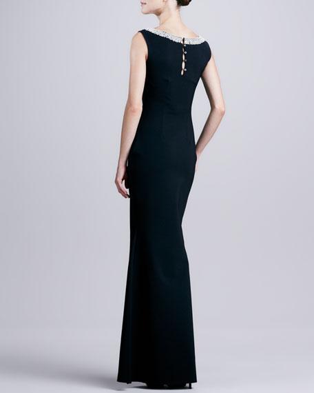 Esmeralda Jewel-Embellished Jersey Gown
