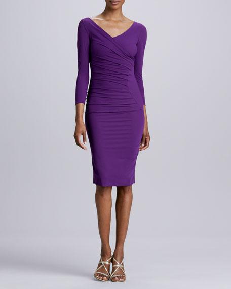 Tamara Ruched Formfitting Jersey Dress