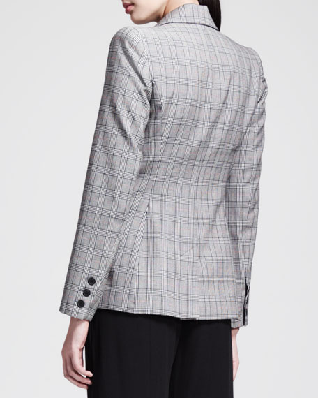 Double-Breasted Glen Plaid Jacket