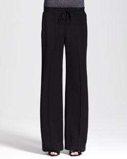 Nonoo Wide-Leg Drawstring Crepe Pants