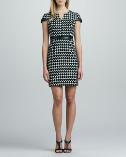 Shoshanna Houndstooth Sheath Dress