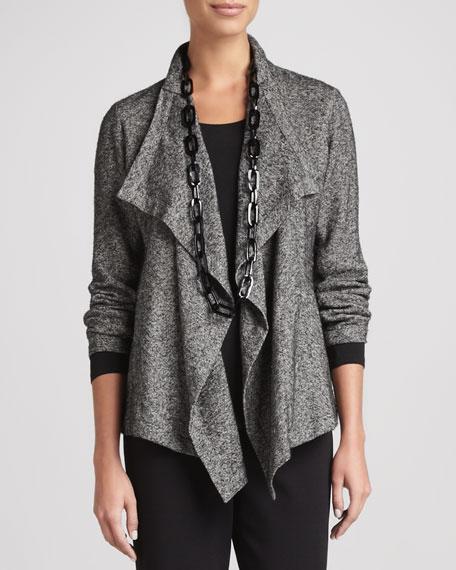 Herringbone Cascade-Front Jacket