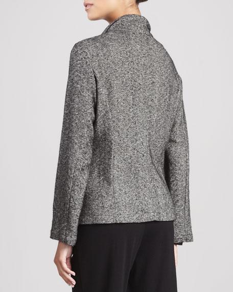 Herringbone Cascade-Front Jacket, Women's