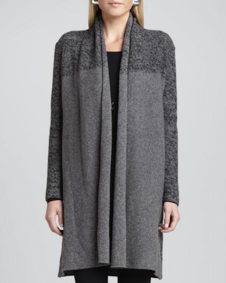 Shawl-Collar Long Cardigan, Petite