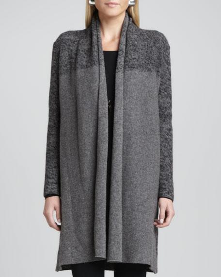 Shawl Collar Long Cardigan, Women's