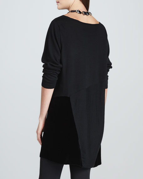Tunic with Velvet Panels, Petite