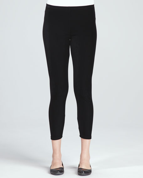 Stretch Velvet Ankle Leggings, Petite