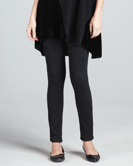 Eileen Fisher Stretch Velvet Ankle Leggings, Women's