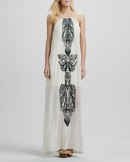 Gila Maxi Dress with Chiffon Overlay