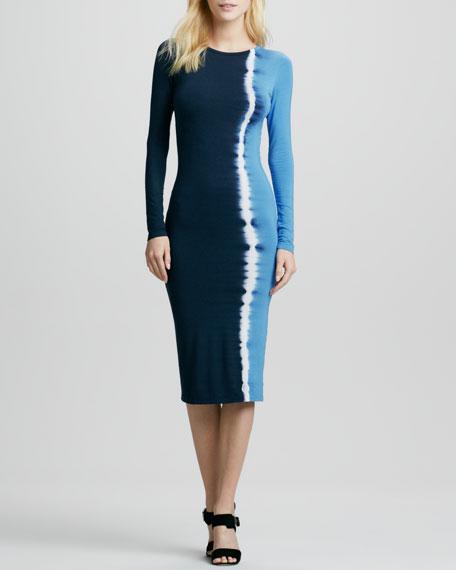 Lulu Ombre Long-Sleeve Dress