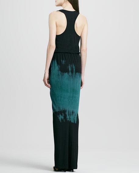 Amalia Fitted Tie-Dye Maxi Dress