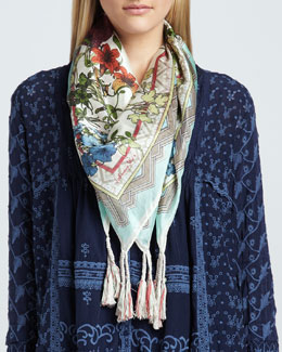Johnny Was Collection Printed Fresh Garden Scarf