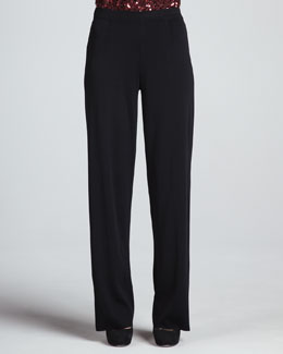 Misook Boot-Cut Knit Pants