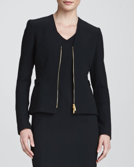 Betha Golden-Zip-Front Jacket