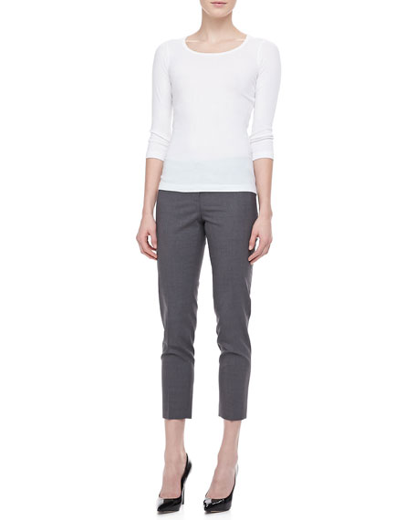 Basic Skinny Cropped Pants