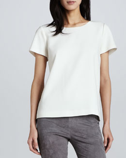 Joie Deleina Short-Sleeve Wool Top