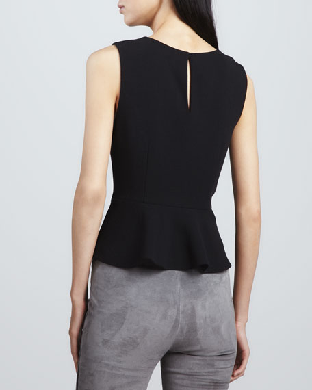 Jourdine Sleeveless Peplum Top