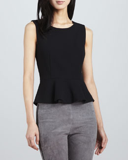 Joie Jourdine Sleeveless Peplum Top
