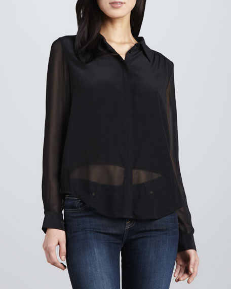 Mercina Sheer Silk Blouse