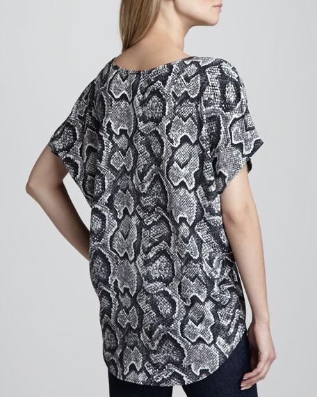 Joann Snake-Print Blouse