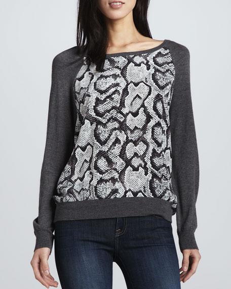 Malena Snake-Print Sweater