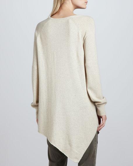 Shatoria Dipped-Hem Sweater