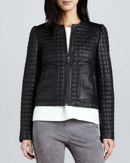 Yetta Quilted Leather Jacket