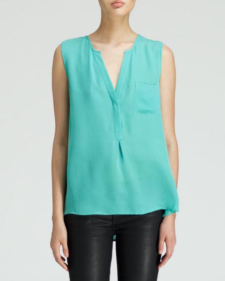 Vanitra Sleeveless Silk Blouse