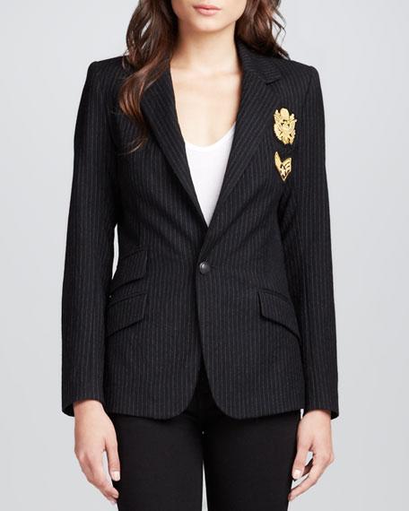 Revelry Pinstripe Emblem Jacket