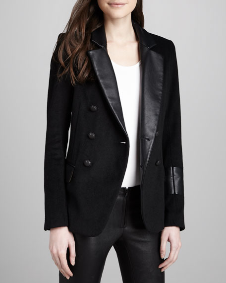 Kadette Peacoat with Leather Trim