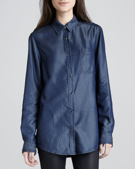 Will Long Denim Blouse