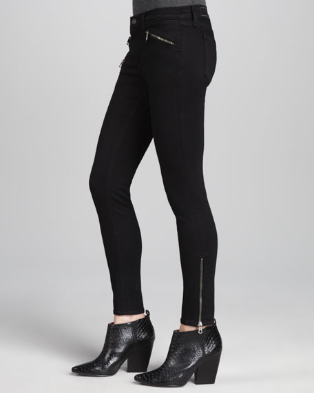 Midrise Leggings with Ankle Zip