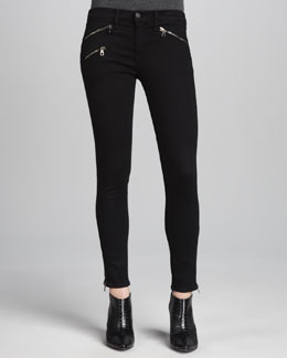 rag & bone/JEAN Midrise Leggings with Ankle Zip