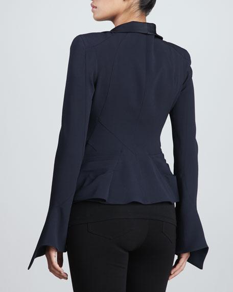 Crepe-Back Satin Jacket