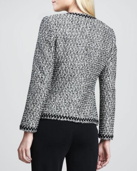 Zigzag-Trim Tweed Jacket
