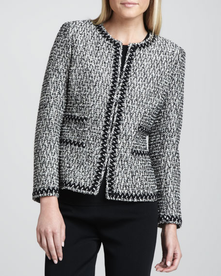 Zigzag-Trim Tweed Jacket