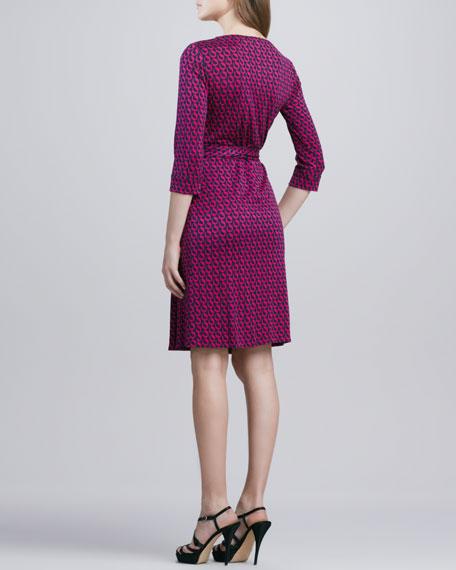 New Julian Two Chain-Print Wrap Dress