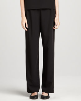Caroline Rose Stretch-Gabardine Travel Pants, Women's