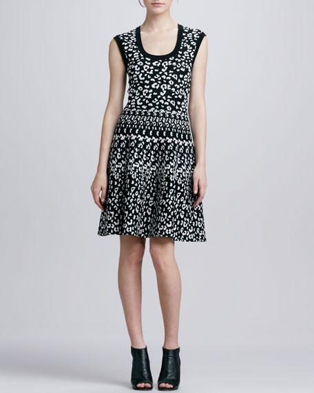 Leopard-Print Stretch Dress