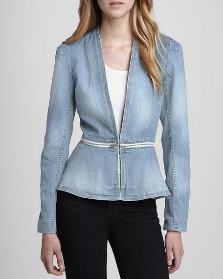 Zip-Waist Denim Jacket