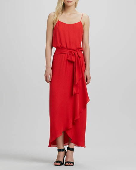 Cami Gown with Ruffled Slit
