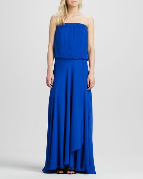 Strapless Blouson Maxi Dress