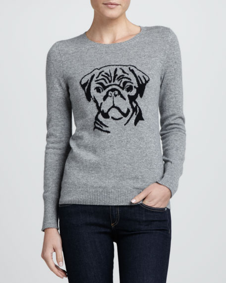 Pug Intarsia Cashmere Sweater