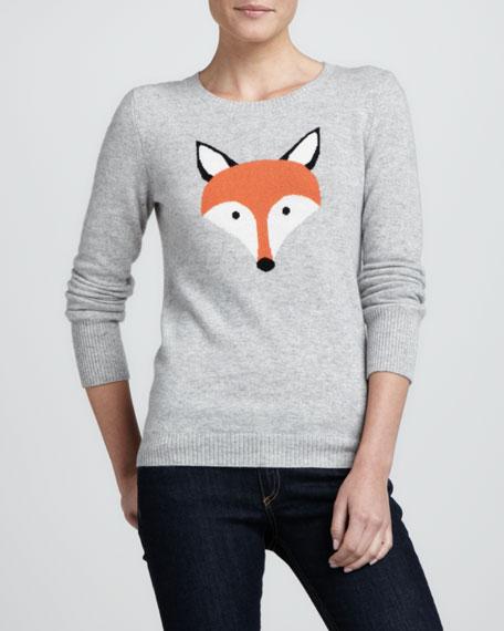 Fox Intarsia Cashmere Sweater, Sparkler