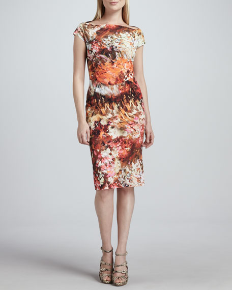 Carrie Cap-Sleeve Floral Cocktail Dress